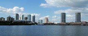 Tampa skyline from Gulf Marine Repair